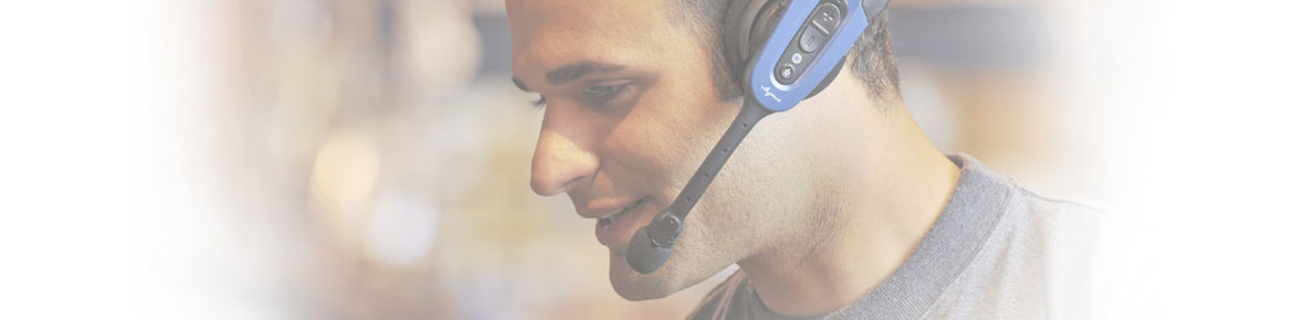 Man wearing a SRX2 Headset