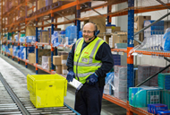 Nisa Warehouse Worker using Voice technology