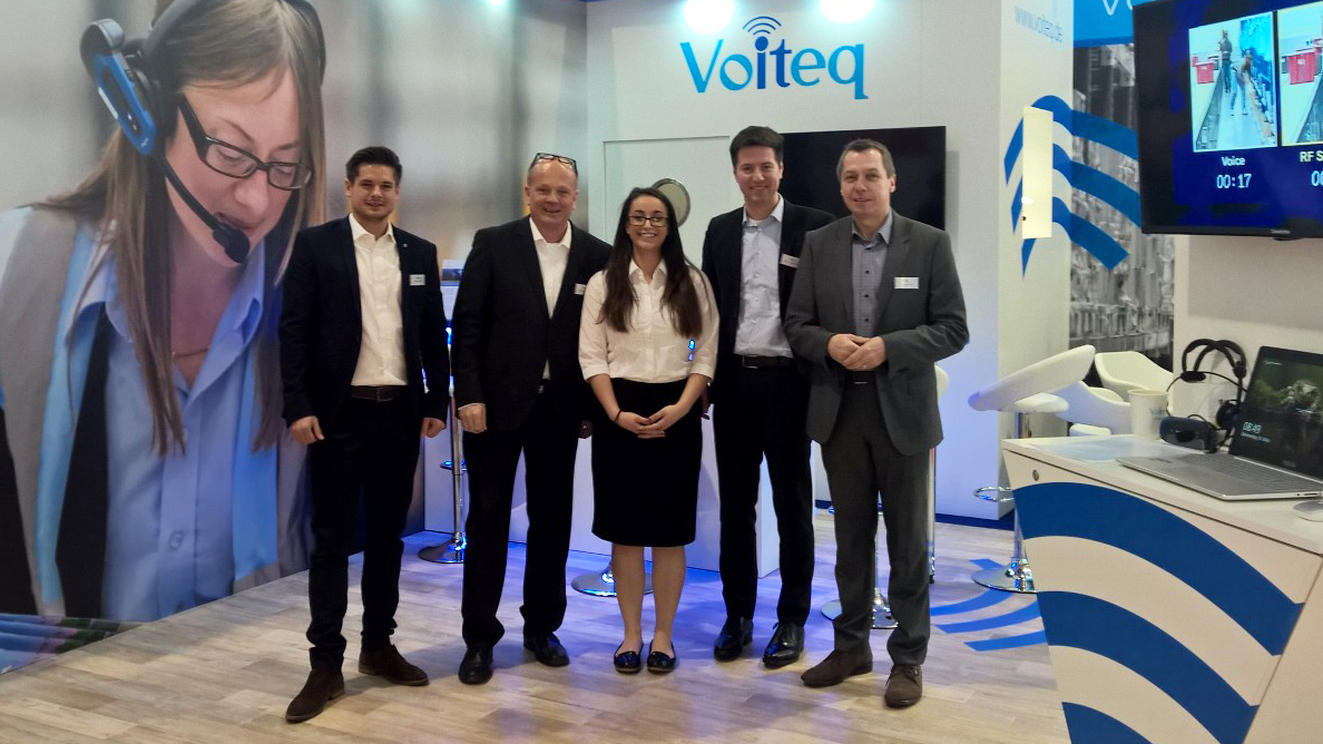 The team proudly representing Voiteq Germany at LogiMAT 2017