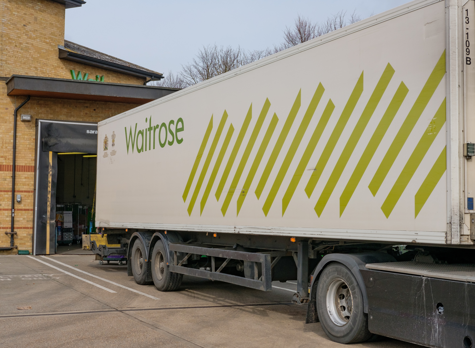 UK - March 12 2016 Istock Image Waitrose HGV Loading